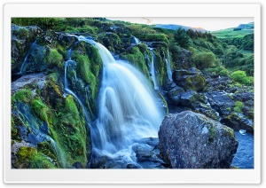 The Loup of Fintry waterfall of the River Endrick, Scotland HD Wide Wallpaper for Widescreen