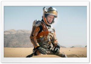 The Martian, Matt Damon HD Wide Wallpaper for Widescreen