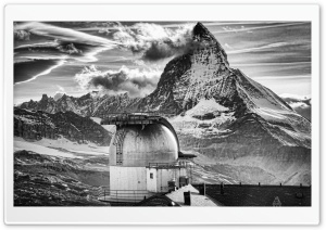 The Matterhorn, Monochrome HD Wide Wallpaper for Widescreen
