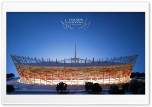 The National Stadium in Warsaw - UEFA Euro 2012 HD Wide Wallpaper for Widescreen
