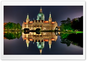The New City Hall in Hanover, Germany HD Wide Wallpaper for 4K UHD Widescreen desktop & smartphone