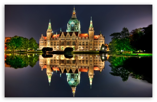 The New City Hall in Hanover, Germany HD wallpaper for Wide 16:10 5:3 Widescreen WHXGA WQXGA WUXGA WXGA WGA ; HD 16:9 High Definition WQHD QWXGA 1080p 900p 720p QHD nHD ; Standard 4:3 5:4 3:2 Fullscreen UXGA XGA SVGA QSXGA SXGA DVGA HVGA HQVGA devices ( Apple PowerBook G4 iPhone 4 3G 3GS iPod Touch ) ; Tablet 1:1 ; iPad 1/2/Mini ; Mobile 4:3 5:3 3:2 16:9 5:4 - UXGA XGA SVGA WGA DVGA HVGA HQVGA devices ( Apple PowerBook G4 iPhone 4 3G 3GS iPod Touch ) WQHD QWXGA 1080p 900p 720p QHD nHD QSXGA SXGA ; Dual 5:4 QSXGA SXGA ;