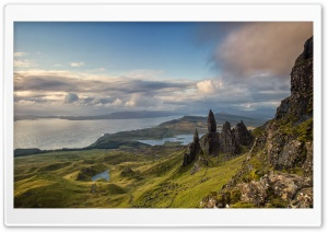 The Old Man of Storr HD Wide Wallpaper for 4K UHD Widescreen desktop & smartphone