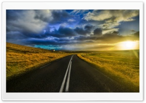 The Open Road In Iceland HD Wide Wallpaper for 4K UHD Widescreen desktop & smartphone