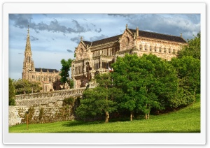 The Palace of Sobrellano, Cantabria, Spain HD Wide Wallpaper for Widescreen