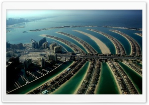 The Palm Islands (Atlantis), Dubai, United Arab Emirates HD Wide Wallpaper for Widescreen