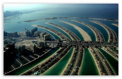 The Palm Islands (Atlantis), Dubai, United Arab Emirates HD wallpaper for Wide 16:10 5:3 Widescreen WHXGA WQXGA WUXGA WXGA WGA ; HD 16:9 High Definition WQHD QWXGA 1080p 900p 720p QHD nHD ; Mobile 5:3 16:9 - WGA WQHD QWXGA 1080p 900p 720p QHD nHD ;