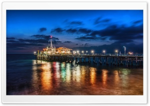 The Pier In Santa Monica HD Wide Wallpaper for 4K UHD Widescreen desktop & smartphone
