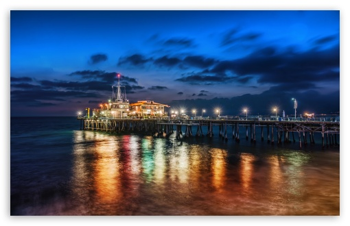 The Pier In Santa Monica Ultra Hd Desktop Background