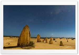 The Pinnacles, Nambung National Park, Western Australia HD Wide Wallpaper for 4K UHD Widescreen desktop & smartphone
