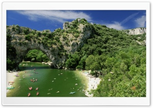 The Pont dArc over the Ardeche River Ultra HD Wallpaper for 4K UHD Widescreen desktop, tablet & smartphone