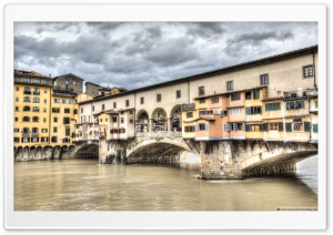 The Ponte Vecchio Florence HD Wide Wallpaper for 4K UHD Widescreen desktop & smartphone