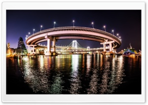 The Rainbow Bridge in Tokyo HD Wide Wallpaper for Widescreen