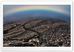 The Rainbow of Istanbul HD Wide Wallpaper for Widescreen