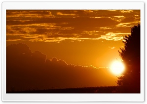 The Rays Of The Setting Sun Sundown HD Wide Wallpaper for Widescreen