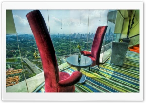 The Red Chairs HD Wide Wallpaper for Widescreen