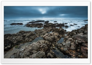 The Rolling Tempest   Pescadero State Beach HD Wide Wallpaper for Widescreen