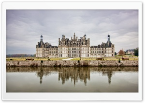 The Royal Chateau de Chambord at Chambord, Loir et Cher, France HD Wide Wallpaper for Widescreen
