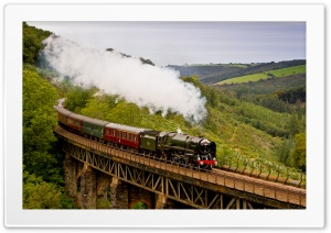 The Royal Duchy Steam Train HD Wide Wallpaper for 4K UHD Widescreen desktop & smartphone