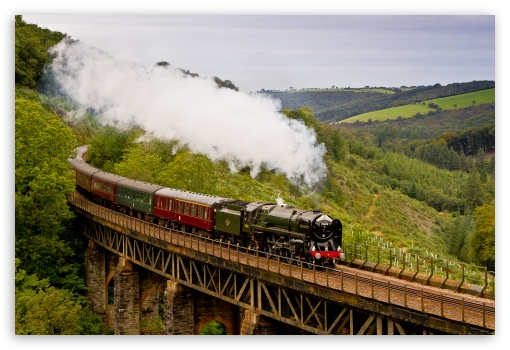 The Royal Duchy Steam Train 4K HD Desktop Wallpaper for