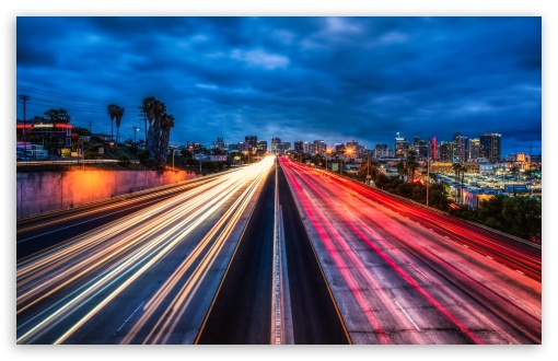 The San Diego Freeway 4K HD Desktop Wallpaper For • Wide
