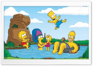 The Simpsons Summer Vacation HD Wide Wallpaper for Widescreen