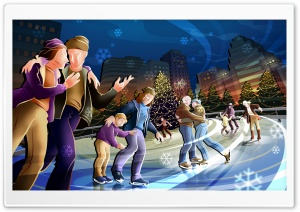 The Skating Rink HD Wide Wallpaper for 4K UHD Widescreen desktop & smartphone