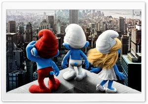 The Smurfs (2011) Movie HD Wide Wallpaper for Widescreen