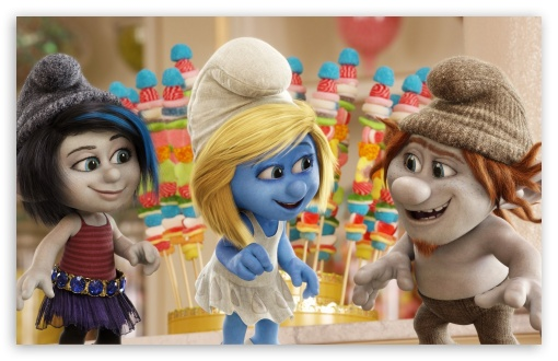 The Smurfs 2 HD wallpaper for Standard 5:4 Fullscreen QSXGA SXGA ; Wide 16:10 5:3 Widescreen WHXGA WQXGA WUXGA WXGA WGA ; HD 16:9 High Definition WQHD QWXGA 1080p 900p 720p QHD nHD ; Other 3:2 DVGA HVGA HQVGA devices ( Apple PowerBook G4 iPhone 4 3G 3GS iPod Touch ) ; Mobile VGA WVGA iPhone iPad PSP Phone - VGA QVGA Smartphone ( PocketPC GPS iPod Zune BlackBerry HTC Samsung LG Nokia Eten Asus ) WVGA WQVGA Smartphone ( HTC Samsung Sony Ericsson LG Vertu MIO ) HVGA Smartphone ( Apple iPhone iPod BlackBerry HTC Samsung Nokia ) Sony PSP Zune HD Zen ; Tablet 2 ;