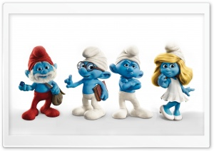 The Smurfs Characters HD Wide Wallpaper for Widescreen