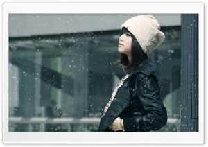 The Snow Is Falling HD Wide Wallpaper for Widescreen