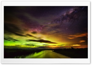 The Southern Lights in New Zealand HD Wide Wallpaper for 4K UHD Widescreen desktop & smartphone