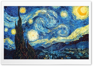 The Starry Night HD Wide Wallpaper for Widescreen