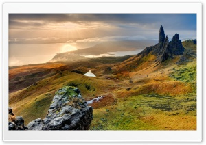 The Storr Hill Panorama, Scotland HD Wide Wallpaper for 4K UHD Widescreen desktop & smartphone