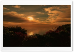 The Sun Goes Down 3D HD Wide Wallpaper for Widescreen