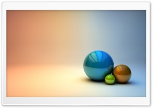 The Three Balls HD Wide Wallpaper for Widescreen