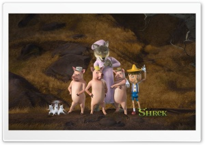 The Three Little Pigs And Pinocchio HD Wide Wallpaper for 4K UHD Widescreen desktop & smartphone