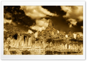 The Towers Of Angkor Thom, Cambodia HD Wide Wallpaper for 4K UHD Widescreen desktop & smartphone