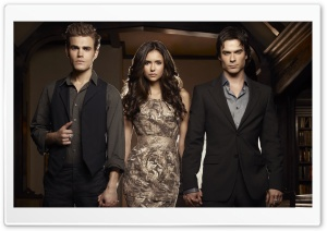 The Vampire Diaries - Nina Dobrev, Ian Somerhalder and Ian Paul Wesley HD Wide Wallpaper for Widescreen