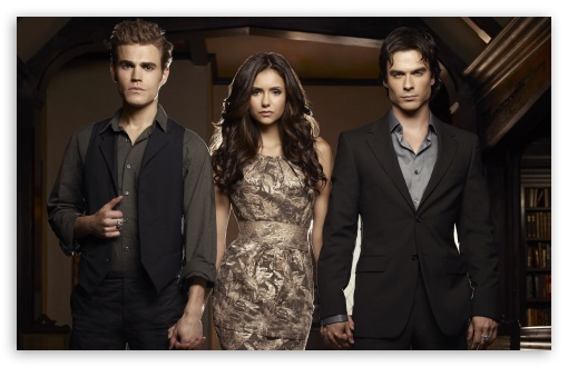 The Vampire Diaries - Nina Dobrev, Ian Somerhalder and Ian Paul Wesley HD wallpaper for Wide 16:10 5:3 Widescreen WHXGA WQXGA WUXGA WXGA WGA ; HD 16:9 High Definition WQHD QWXGA 1080p 900p 720p QHD nHD ; UHD 16:9 WQHD QWXGA 1080p 900p 720p QHD nHD ; Standard 4:3 5:4 3:2 Fullscreen UXGA XGA SVGA QSXGA SXGA DVGA HVGA HQVGA devices ( Apple PowerBook G4 iPhone 4 3G 3GS iPod Touch ) ; iPad 1/2/Mini ; Mobile 4:3 5:3 3:2 5:4 - UXGA XGA SVGA WGA DVGA HVGA HQVGA devices ( Apple PowerBook G4 iPhone 4 3G 3GS iPod Touch ) QSXGA SXGA ;