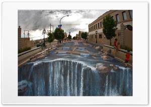 The Waterfall - Street Art Ultra HD Wallpaper for 4K UHD Widescreen desktop, tablet & smartphone