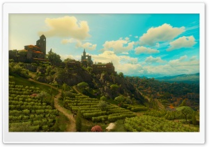 The Witcher 3 Wild Hunt Blood and Wine Toussaint Landscape Ultra HD Wallpaper for 4K UHD Widescreen desktop, tablet & smartphone