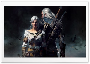 The Witcher 3 Wild Hunt Geralt and Ciri HD Wide Wallpaper for 4K UHD Widescreen desktop & smartphone