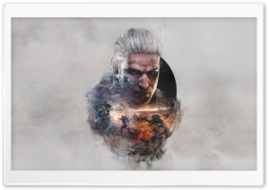 The Witcher 3 Wild Hunt Geralt FanArt HD Wide Wallpaper for Widescreen