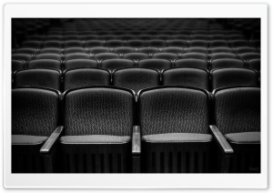 Theater Seats Black and White HD Wide Wallpaper for Widescreen
