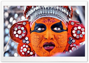 Theyyam Oil Painted HD HD Wide Wallpaper for Widescreen