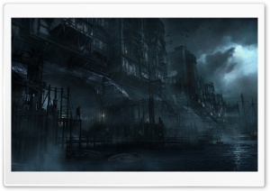 Thief 4 Video Game Concept Art HD Wide Wallpaper for Widescreen