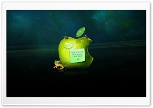 Think Apple HD Wide Wallpaper for Widescreen