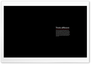 Think Different HD Wide Wallpaper for 4K UHD Widescreen desktop & smartphone