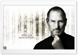 Think Different-Steve Jobs HD Wide Wallpaper for Widescreen